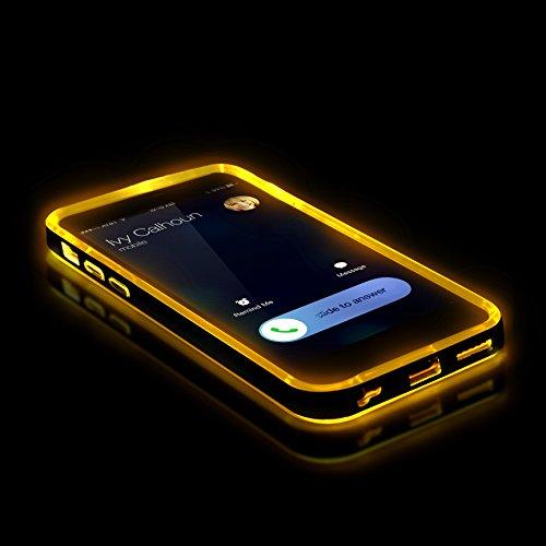 Original Urcover® Apple iPhone 6 / 6s Hülle Bumper mit [Flash Funktion] Handyhülle eingehender Anruf/SMS LED Flash Light Blink Function [Hell Blau] mit TPU Rückseite Cover Case Etui Schutzhülle für TO Grün