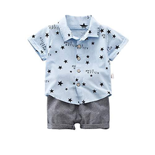 Plaid Woven Shorts (ESHOO Baby Jungen Sommer Kurzarm Woven Shirt und Shorts Kleidung Set 0-4 Jahre)