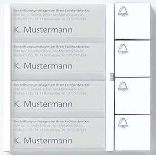 Siedle Tastenmodul 4 Tasten 1 und N-System, TM 612-4 Dg, dunkelgrau glimmer, 4919393