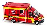 Rietze 76102 - was Desgin-RTW Facelift, Ambulance Airport Genève (CH) - 1:87