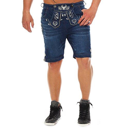 81T5 Wanderwald Herren Denim Short Premium Falke Trachten Jeans Gr. 46