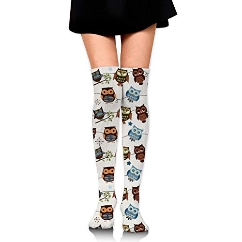XIUZHIZH Knee High Leg Warmer Out of Picture Peterbilt Dump Truck Compression Socks High Tube Thigh Boots Stockings for Women Teens Girls (Dump Red Truck)