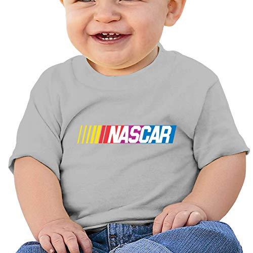 en Shirts NASCAR T Shirt Kurzarm T-Shirt Für Tollder Jungen Mädchen Baumwolle Sommer Kleidung Grau 18 Mt ()