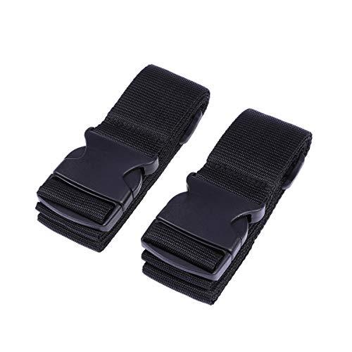 VORCOOL 2 STÜCK Gepäckband Heavy Duty Straps Utility Strap für Outdoor-Sport Rucksack Schlafsack Kompression Gepäck Bündeln mit Getriebe Schnellverschluss (Schwarz) -