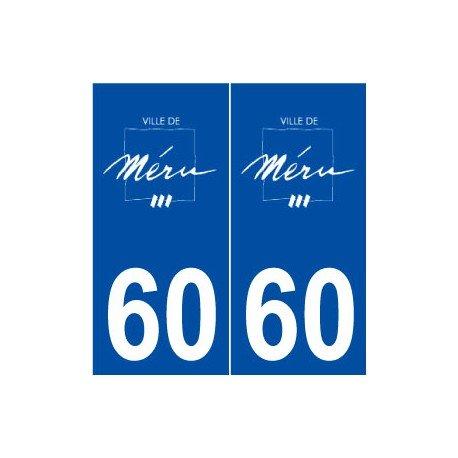 Preisvergleich Produktbild 60Meru Logo selbstklebend Platte Aufkleber Stadt–abgerundete