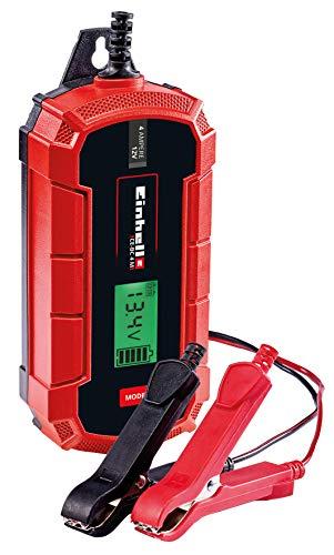 Einhell Batterie-Ladegerät CE-BC 4 M (intelligentes Batterieladegerät mit Mikroprozessorsteuerung für verschiedenste Batterietypen, u.a. Kfz/Krad, max. 4 Ampere Ladestrom)