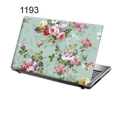 er Skin Vinyl Aufkleber mit bunten Mustern für 15 Zoll 15,6 Zoll (38cm x 25,5cm) Laptop Skin bunten Blumen ()