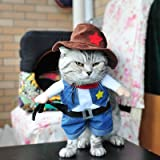 Funny Cat Clothes Nurse Costume Police Suit Clothes for Cool Cat Halloween Costume