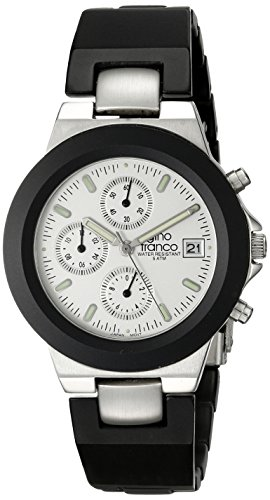 gino franco Men's 967SL Round Chronograph Stainless Steel Bracelet Watch