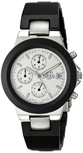 gino franco Men's 967SL Round Chronograph Stainless Steel Bracelet Watch