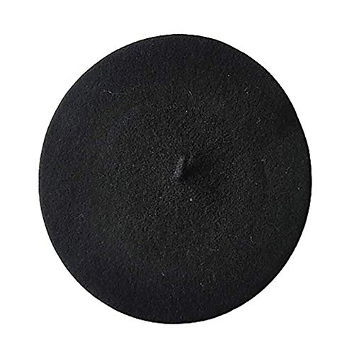 Boina de lana 27cm negra