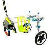 Hunde-Rollstuhl/Hundscooter/Behinderten-Rollstuhl/Trainingsgerät zur Rehabilitation von Haustieren (Farbe : A, größe : L)