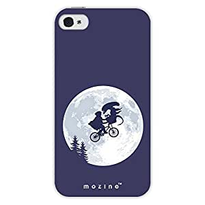 Mozine Alien Bicycle Ride printed mobile back cover for Apple Iphone 4s