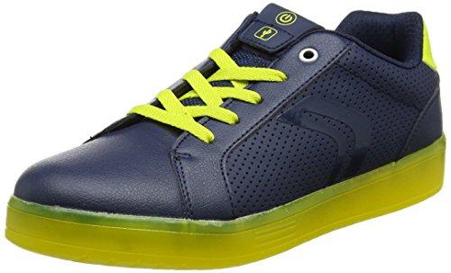 Geox J Kommodor B, Zapatillas Unisex Adulto, Azul (Navy/Lime), 41 EU