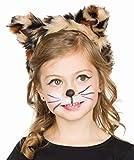 Mottoland Kostüm Zubehör Kinder Haarreif Leopard Katzenohren Karneval Fasching