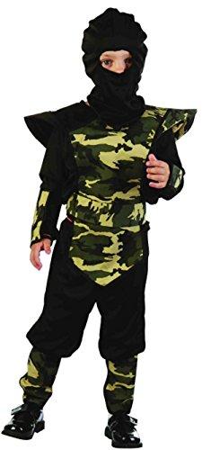Kostüm Kleinkind Ninja Junge - Glossy Look Jungen Mädchen Arm Ninja Kleinkind Fancy Dress Party Kostüm 2-4Jahre Kinder