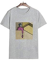 Ropa De Mujer EstéTica Divertida Camiseta De Verano O Cuello Streetwear Bluose Comfotable Regular Imprimir Ropa
