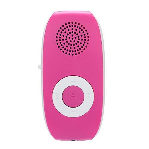Jintime USB MP3 Player Klipp Mini Portable Taschen Musik Spieler Eingebauter Lautsprecher, Unterstützung SD/TF Karte 32GB Sport Musik Medien mit Ladekabel 70x30x20mm (Hot Pink)