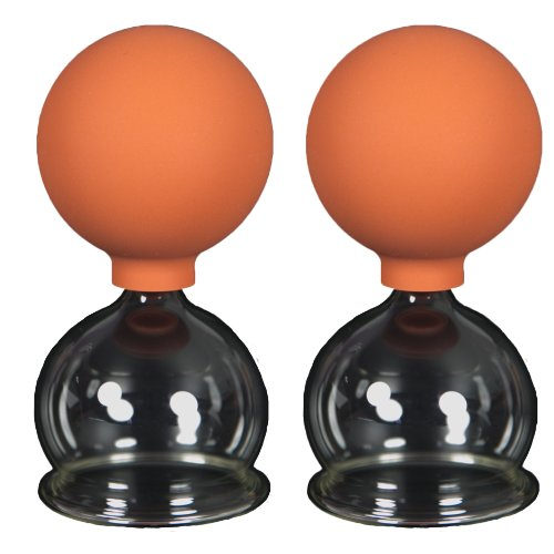 Schröpfgläser mit Ball 2 Stück 50 mm zum professionellen, medizinschen, feuerlosen Schröpfen, Schröpfglas, Schröpfgläser, Lauschaer Glas das Original