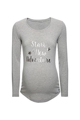 Bellybutton 1/1 Arm, T-Shirt de Maternité Femme Grau (stone Beige Melange|gray 8105)
