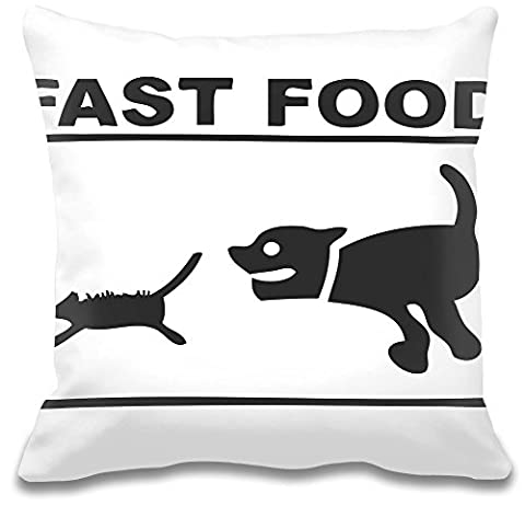 Fast Food Cat And Mouse Funny Custom Decorative Pillow| Ultra