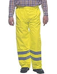 Grafters HI-VIZ Fluorescent Waterproof Over Trousers Yellow