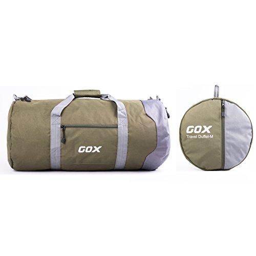 GOX , Borsone  Uomo Donna Olive Green/Grey