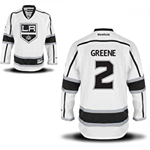 Reebok NHL Eishockey Trikot Jersey Premier Los Angeles Kings Matt Greene #2 weiß