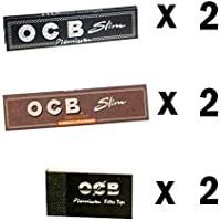 SCORIA® King Size Rolling Paper 2 Brown OCB + 2 Black OCB with 2 Rouch Pad