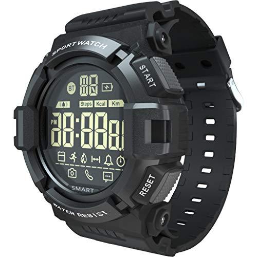 Foroner Smart Watch wasserdicht Running Step Counter Fashion Sport Armbanduhr für Männer Frauen (Schwarz)