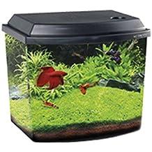Haquoss acquario blu 3.8 nero mini acquario completo 3,8 litri illuminazione a led