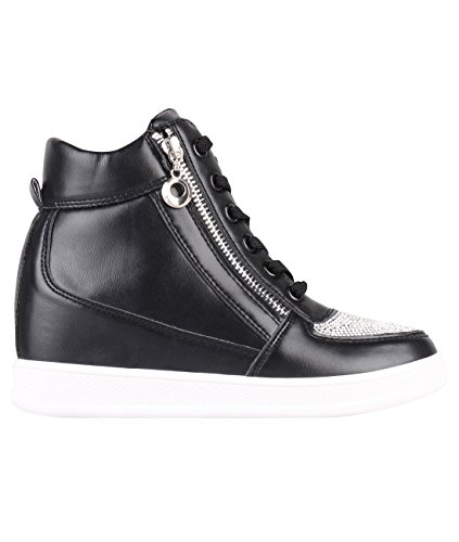 6f4583e3bc36dc KRISP Damen Wedge Sneaker Schuhe mit Keilabsatz