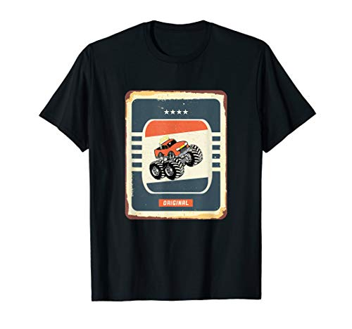 Vintage Monster Trucks Gas Schild RC Big Size Truck Geschenk T-Shirt