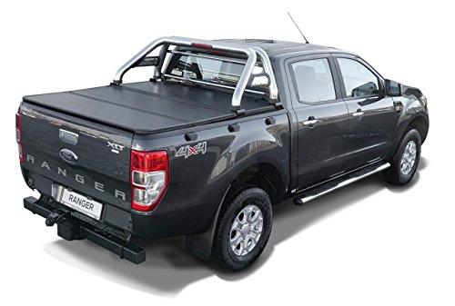 Fahrzeugspezifischer Edelstahl Überrollbügel 76mm mit Gitter & LED Rückleuchte.