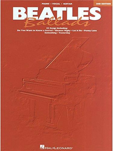 Beatles Ballads - Second Edition. Partitions pour Piano, Chant et Guitare