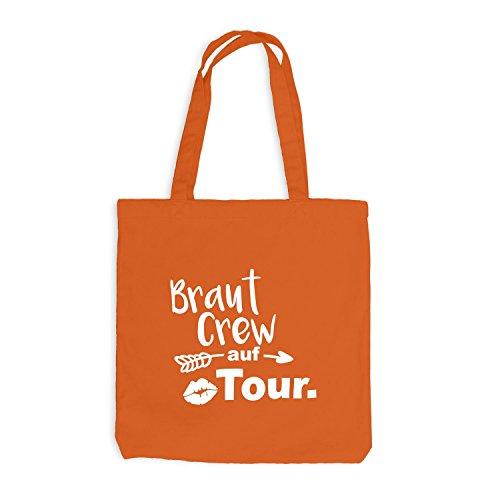 Tour Braut Orange CREW Junggesellenabschied auf Jutebeutel Pfeil Lips JGA qSxw8H