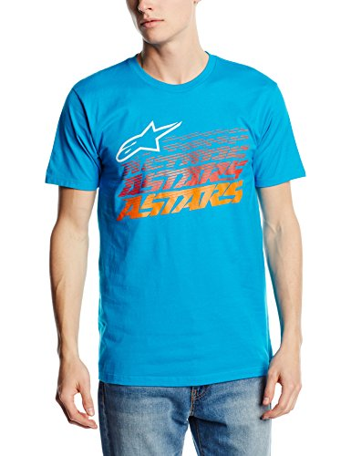 Alpinestars Herren Short Sleeve T-shirt Hashed Tee blau