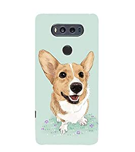 FUSON Cartoon Graphic Dog 3D Hard Polycarbonate Designer Back Case Cover for LG V20 Dual H990DS :: LG V20 Dual H990N