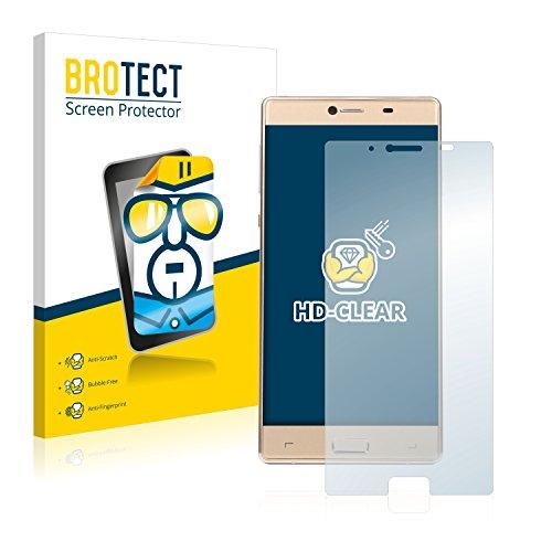 BROTECT Schutzfolie kompatibel mit Medion Life X5004 (MD 99238) (Rückseite) [2er Pack] klare Bildschirmschutz-Folie