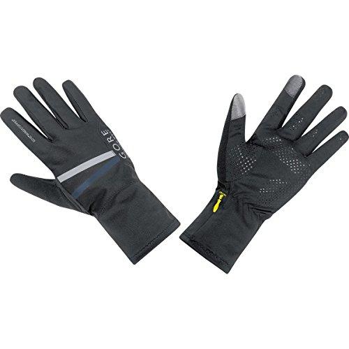 Gore Running Wear Warme Damen Lauf-Handschuhe, GORE WINDSTOPPER, MYTHOS LADY Gloves, Größe: 7, Schwarz, GWSMYL