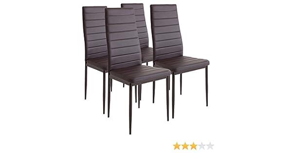 Set di sedie mod diva in ecopelle sala da pranzo o cucina