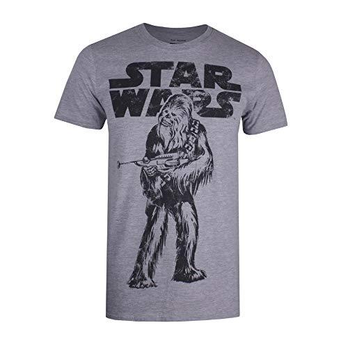 Star Wars Herren Chewie Logo T-Shirt, Grau (Grey Heather SPO), X-Large