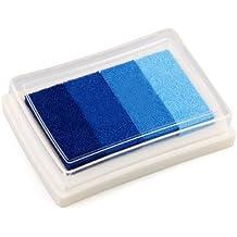 Sonline Almohadilla Tinta para Sello Tampon Color Azul Gradiente Scrapbooking