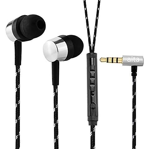 Aita E75 Auriculares in-ear Cascos deportivos ,Conexion Jack 3.5mm y Anti-sudor para Reproductor MP3, Smartphones, iPod