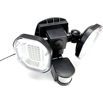 Powerbee signaller twin head solar security light with 56 latest powerbee signaller twin head solar security light with 56 latest technology large superbright leds mozeypictures Gallery