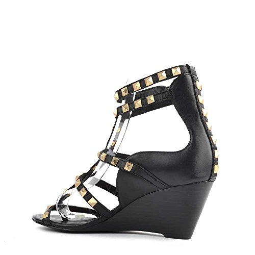 Ash Schuhe Dafne Sandalen aus Leder Schwarz Damen Schwarz
