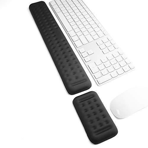 Tastatur und Maus Handgelenkauflage Set Gaming Memory Foam Ergonomische Hand Handballenauflage Unterstützung für Computer, PC, Laptop, Mac Tipp- und Handgelenkschmerzlinderung und -reparatur (44 cm)