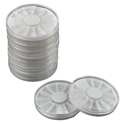 10 x à nourriture Etui rotatif à ongles Art de stockage vide Boîte Perles Roues Strass tranches