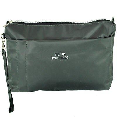 Picard Damen Switchbag Handgelenkstasche, Grau (Anthrazit), 5x16x26 cm