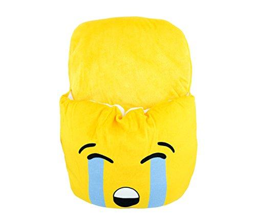 Media wave store ciabattona cuscino 395264 scaldapiedi emoticon calda e morbida idea regalo (pianto)